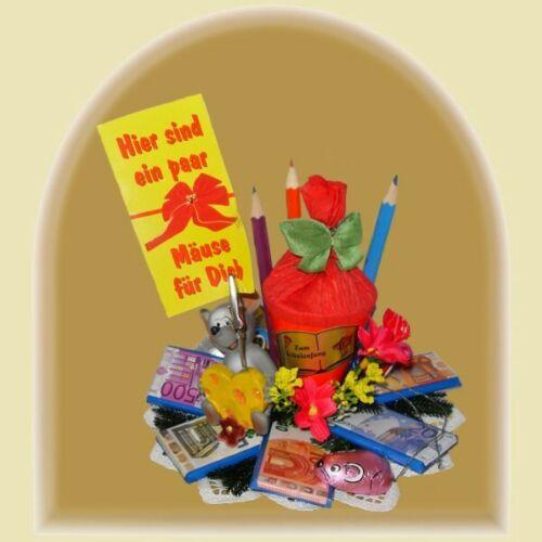 Geschenkstrauß Zuckertüte Einschulung Schulbeginn Schulanfangs,Geschenk