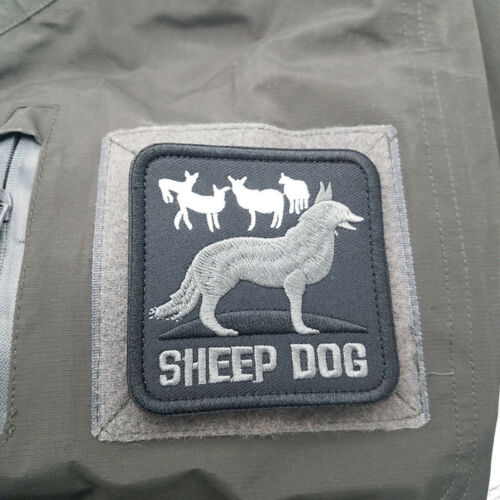 SHEEP DOG USA ARMY MORALE BADGE 3D TACTICAL EMBROIDERED SQUARE HOOK PATCH //02