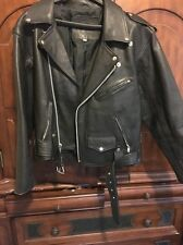 Black Mens Or Womans Harley Davidson Leather Motorcycle Jacket 34 Heavy