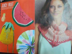 Pineapple And Watermelon Fruit Handbags And Tunisian Shawl Crochet