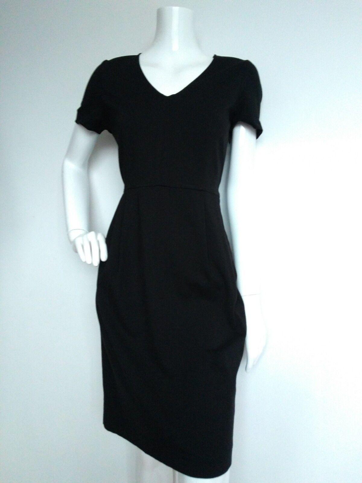 Designer JAEGER JAEGER JAEGER ponte shift dress size 12 --USED ONCE-- knee length short sleeve 1217d2