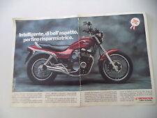 advertising Pubblicità 1985 MOTO HONDA CBX 650 NIGHTHAWK