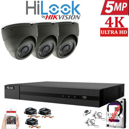 HIKVISION HILOOK 5MP CCTV SYSTEM DVR 4CH 8CH HD OUTDOOR CAMERA HOME SECURITY KIT