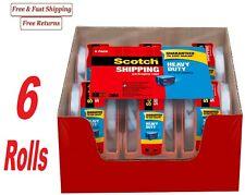 Scotch Heavy Duty Shipping Tape In Dispenser 188 X 222 Yds Pack Of 6 Rolls