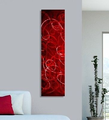 Contemporary Abstract Metal Wall Art Home Decor - Tangled Passion by Jon Allen