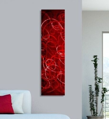 Statements2000 3D Metal Wall Art Panels Modern Red Silver Accent Decor Jon Allen