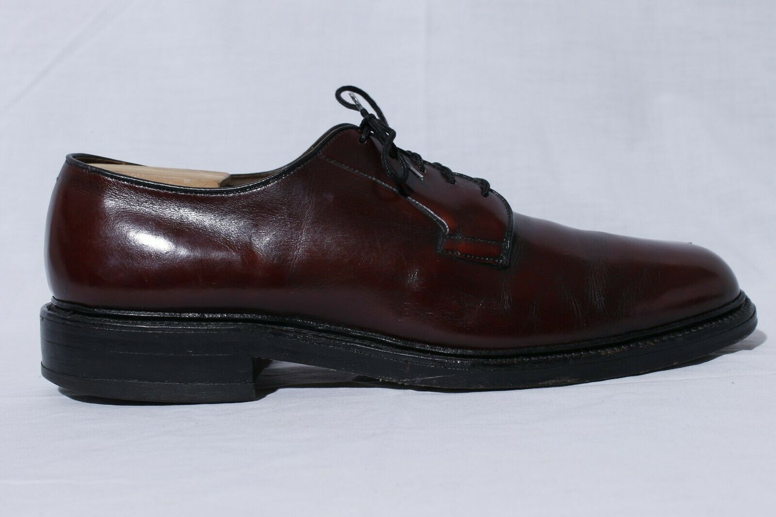 Allen Edmonds Leeds Men's Burgundy Leather Oxford bluecher Dress shoes sz 10A