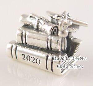 Details about GRADUATION CAP BOOKS SCROLL 2020 Genuine PANDORA Charm  798910C00 NEW w POUCH!