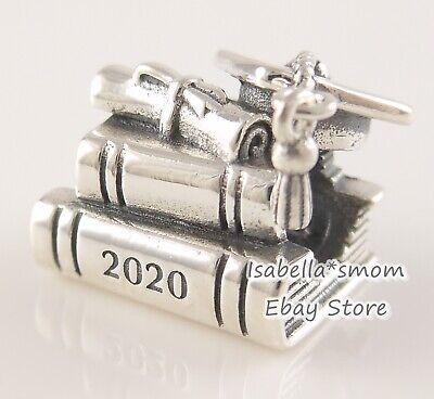 GRADUATION CAP BOOKS SCROLL 2020 Genuine PANDORA Charm 798910C00 NEW w  POUCH! | eBay