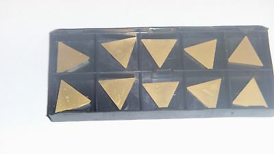 10pcs NEW USA TPG-322 TiN Coated Carbide Inserts