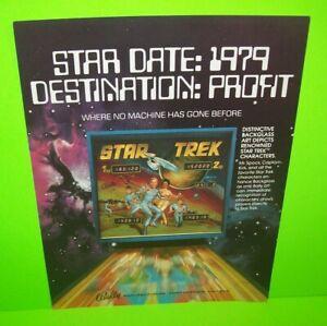 Star-Trek-Pinball-FLYER-Original-1979-Bally-Game-Captain-Kirk-Spock-Enterprise