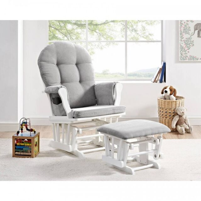 Nursery Rocker Glider Bedroom Rocking Chair Baby Newborn Ottoman Gliding Seat