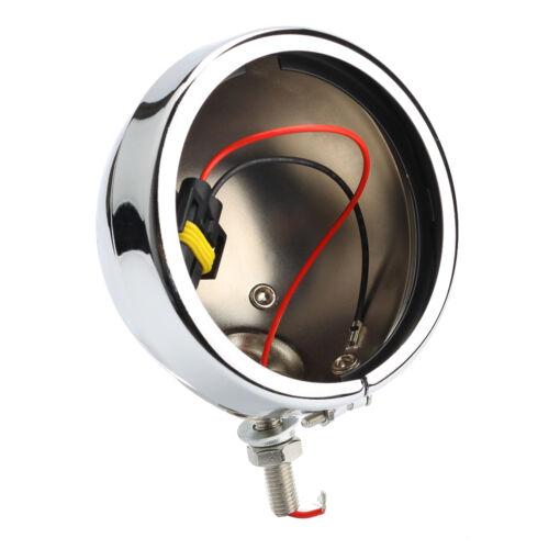 Pair Chrome 4.5/'/' LED Fog Light Lamp Outer Cover Housing Bracket Trim For Harley