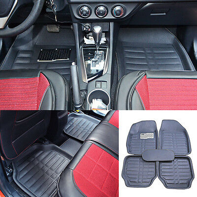 US Universal 5pc Auto Car Floor Mats FloorLiner Front & Rear Carpet All Weather