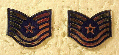 1980/'s USAF United States Air Force Technical Sergeant Rank Stripes 10x7cm