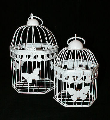 Wedding Birdcage - Decorative Centerpiece - Hexagonal with Butterfly Motive