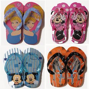 8ad626286bb978 Kids Disney Flip Flops Sandals Pool Shoes Sizes 7-13 UK NEW 1 pair ...