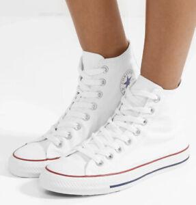 New In Box White High Top Converse | eBay