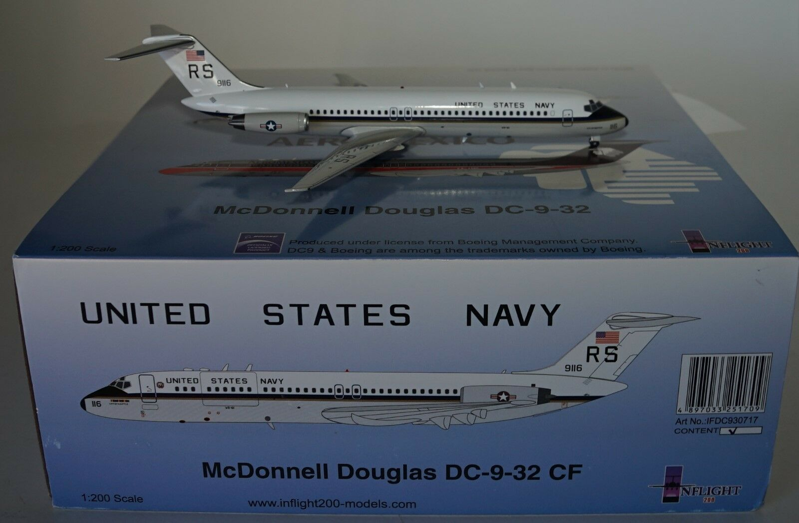 outlet INvolo 200 ifdc930717 1 200 200 200 USA BLU NAVY c-9b cielotrain II (dc-9-32cf) con  la migliore moda