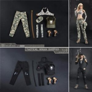 1//6 Scale Toy Female Shooter Black Backpack