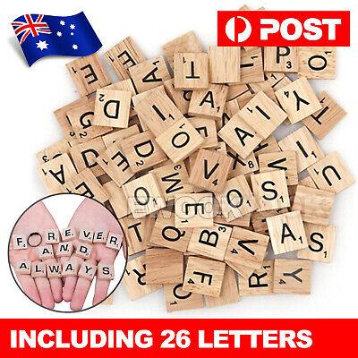 Details about  200pcs Wooden Letters Alphabet Scrabble Tiles Black Letters & Numbers For Crafts