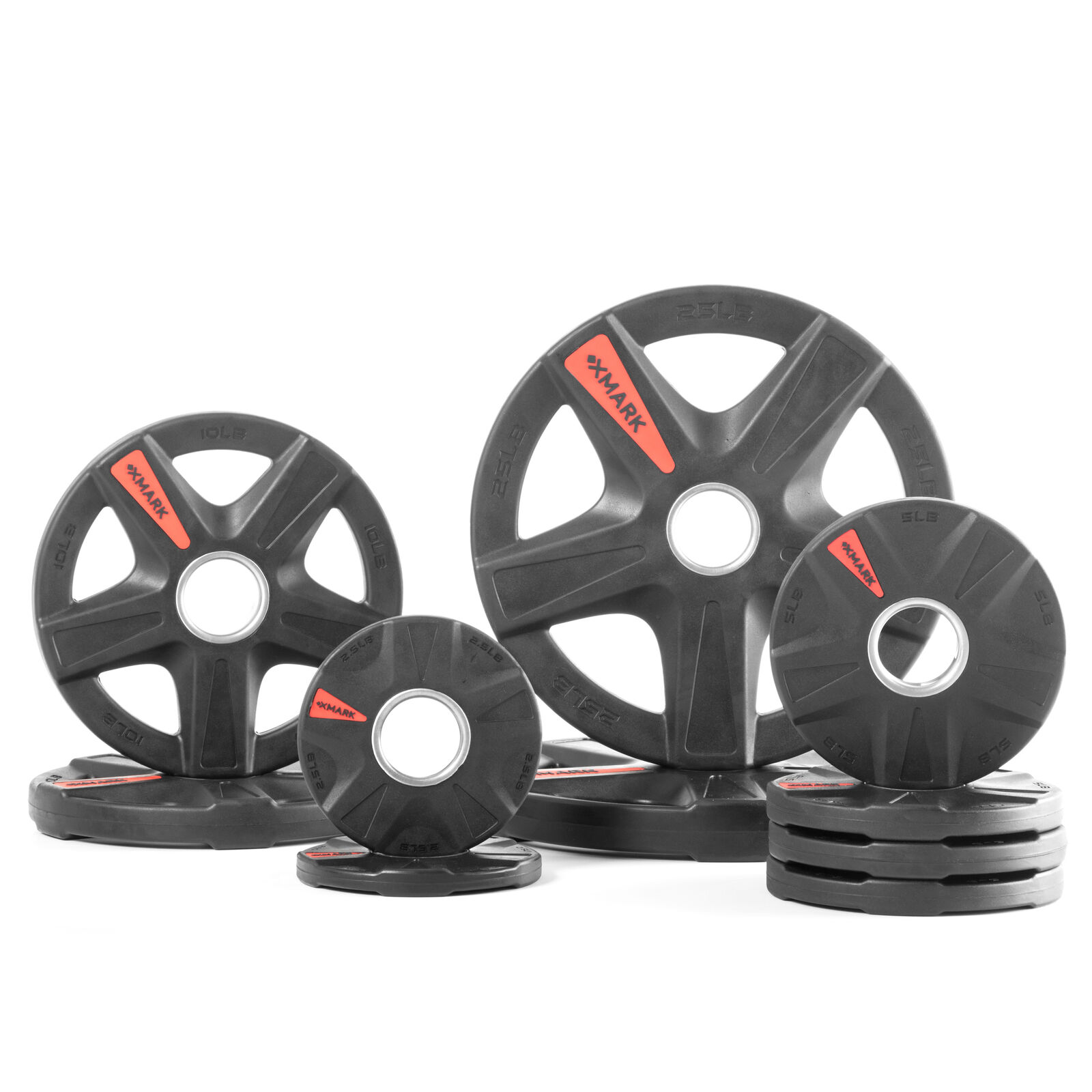 XMark's TEXAS STAR 95 lb. Select  Rubber Coated Olympic set XM-3389-BAL-95  convenient
