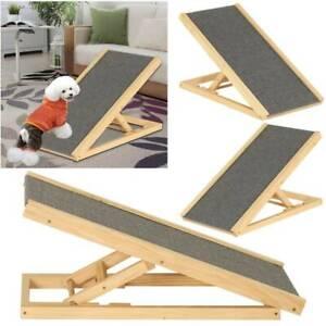 UK-Adjustable-Heights-Non-Slip-Carpet-Stair-Freestanding-Dog-Stair-Ramp