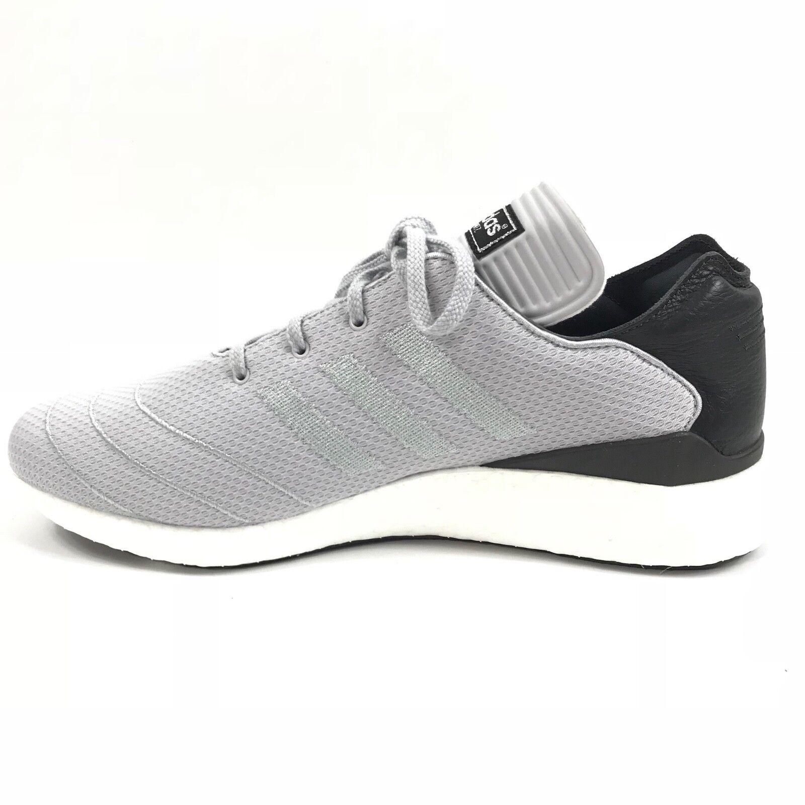 d0da533802f2 Adidas Mens Busenitz Pure Boost Primeknit Primeknit Primeknit Gray Black  White F37782 Ultra Sz 11.5 e9a5e4