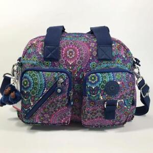 ede9070a41d KIPLING FELIX FAIRFAX LARGE Handbag Shoulder CrossBody Bag Sunshine Happy  Purple Damentaschen