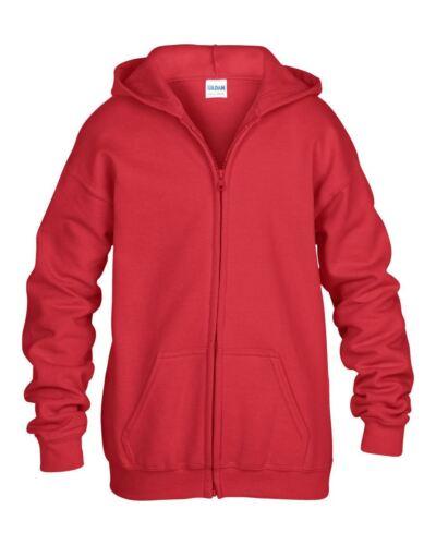 Gildan Kids Zip Hooded Sweatshirt XL Heavy Blend-Gildan Child Full Zip Hoodie