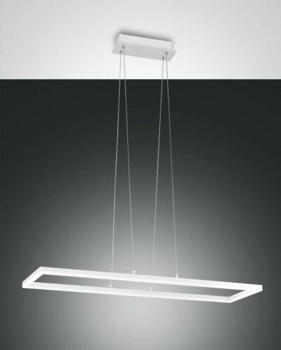 LED Pendel Leuchte Hänge Lampe Bard 1flg Fabas Luce 3394-45-102 weiß dimmbar