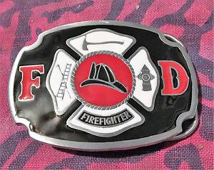 Great American Products FD Firefighter Enamel Belt Buckle />NEW/<