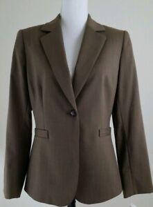 ALEX-MARIE-Women-039-s-Size-8-Brown-Walnut-Blazer-Office-Wear-Jacket-NWT-159-00