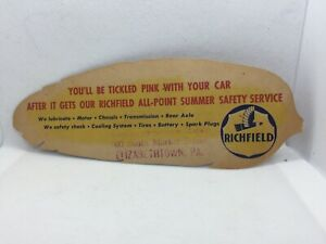 """Richfield Gas & Oil """"You'll Be Tickled Pink"""" Advertising Ticket Leaflet"""
