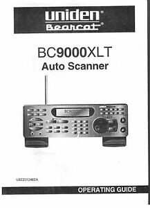 uniden bc 9000 xlt bearcat police scanner radio operating users rh ebay com Program Uniden Bearcat Scanner Frequency Uniden Bearcat Scanner Programming