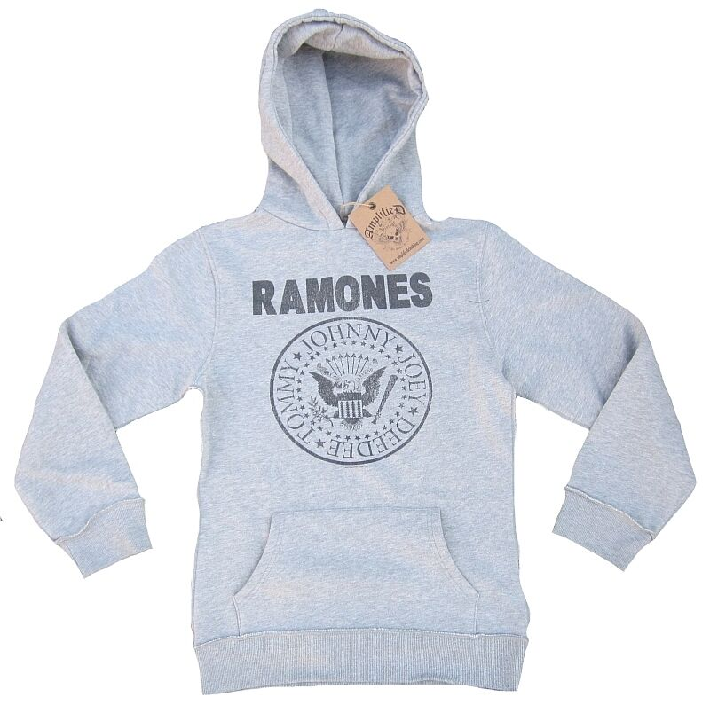 Amplified Vintage Ramones Logo Hey Ho Let's Go Sweater Hooded Sweater Hoodie XXL