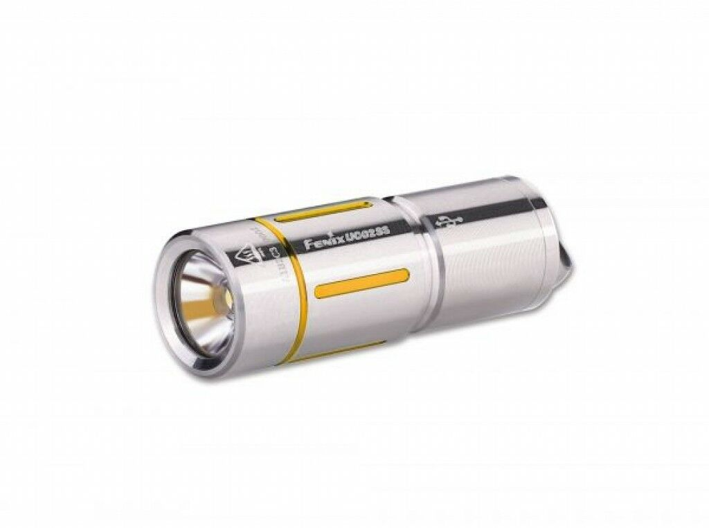 Fenix UC02 Stainless Steel gold USB Torch Outdoor Lamp LED Light Key Ring