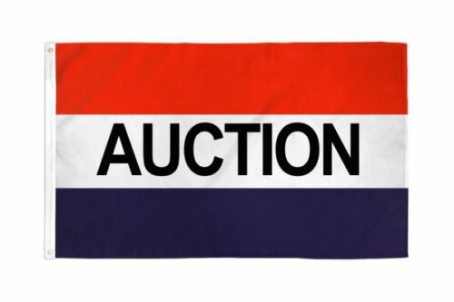 5 Pack AUCTION 3X5 Polyester Flag Bids Bidders Cheap Valuables Items Products Au