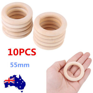 Unfinished-Natural-Wooden-Round-Rings-Jewelry-Making-DIY-Wood-Craft-55mm-OZ