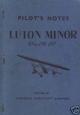Luton Minor Manual RARE DETAIL PN Ops L.A.3 L.A.4 Ultra-Light ARCHIVE 1940's
