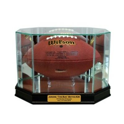 Sports Mem, Cards & Fan Shop Autographs-original New Jerome Bettis Pittsburgh Steelers Glass And Mirror Football Display Case Uv To Enjoy High Reputation At Home And Abroad