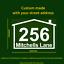 Custom Wheelie Bin House Number Stickers Vinyl Decals for rubbish bin aust made