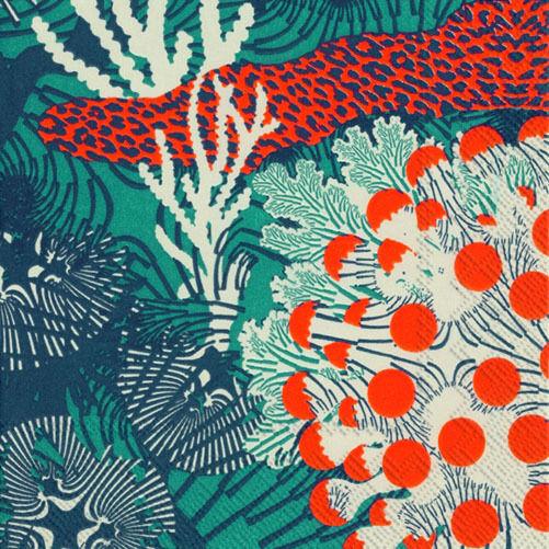 Marimekko MERIVUOKKO blue sea luxury napkins paper napkins new 20 pack