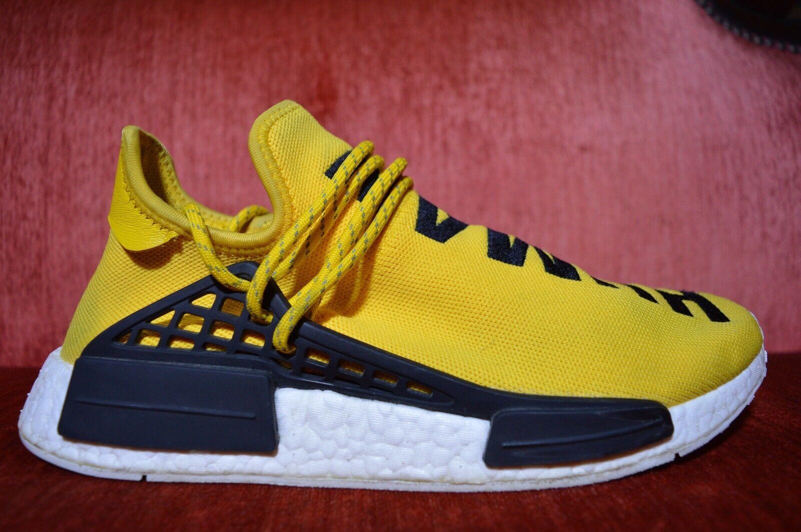 USED Adidas NMD HU Pharrell Williams Human Race Yellow BB0619 size 9