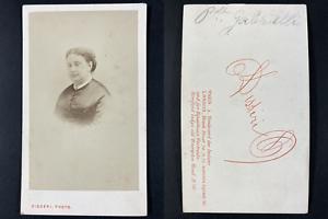 Disdéri, Paris, Princesse Augusta Bonaparte Gabrielli Vintage cdv albumen print.