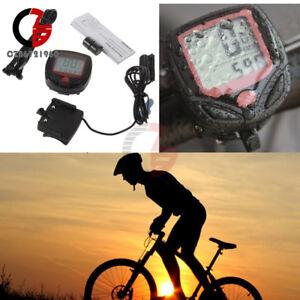 LCD-Computer-Odometer-Speed-Speedometer-Bike-Bicycle-Cycling-Waterproof-Meter