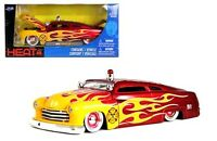 Mercury Coupe 1951 Fire Department Die-cast Car 1:24 Jada Toys 8 Inch Red Flames