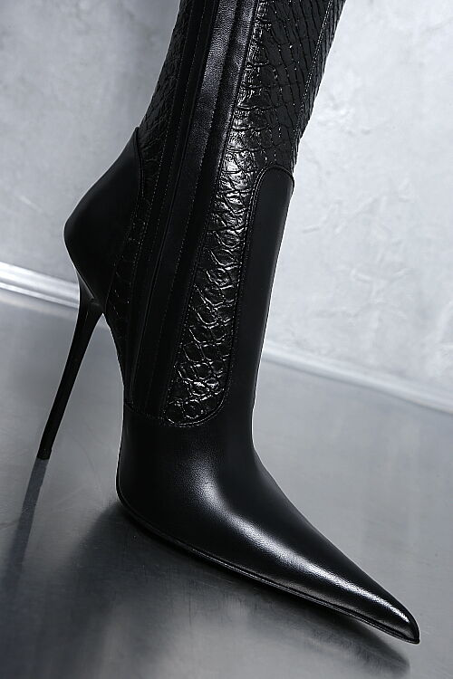 MADE POINTY IN ITALY LUXUS DAMEN POINTY MADE STRETCH Stiefel HIGH HEELS G61 LEDER STIEFEL 37 9f735f