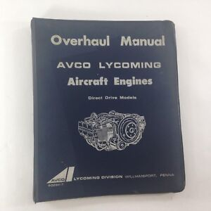 Details about AVCO LYCOMING OVERHAUL MANUAL AIRCRAFT ENGINES 1968