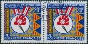 French-Polynesia-1971-Sc-C68-SG127-20f-South-Pacific-Games-pair-FU